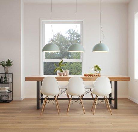 wineo 500 Laminatboden Esszimmer moderne Einrichtung LA166XXLV4 Smooth Oak Brown