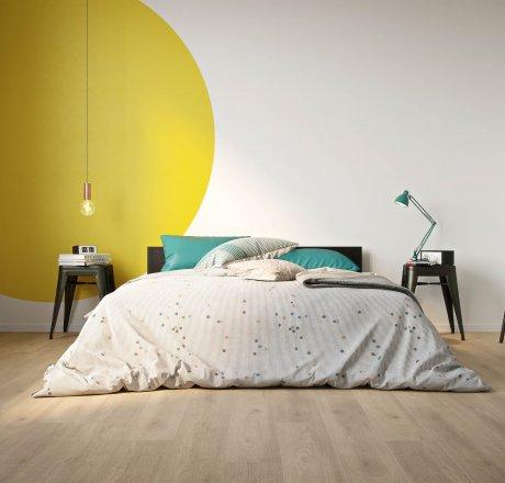 wineo 500 Laminatboden Schlafzimmer Balanced Oak Beige LA180MV4