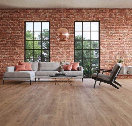 wineo 500 Laminatboden Wohnzimmer Balanced Oak Darkbrown LA182LV4